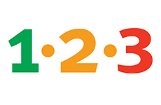 1-2-3 Stasjoner logo